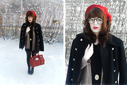 Janni L - Second Hand Coat, Gina Tricot Bag, Bullboxer Lita Inspired Shoes - Welcome snow
