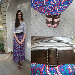 Maddy C. - Thrifted Skirt, Gap Top, Target Shoes - Not in print