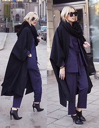 Hanna S - Monki Suit, Storm&Marie Cape, H&M Sunglasses - WALL STREET