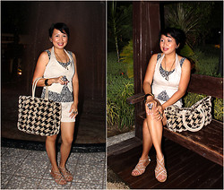 Ms. Chique - Chelsea Strappy Sandals, Gap Fur Tote  Reversible, Jaypee Collection Animal Printed Top, Urban Behavior Light Brown Vest & Shorts, Forever 21 Leopard,Owl,Butterfly Rings, Nordstrom Golden Necklace & Bangles - Night Safari Adventure