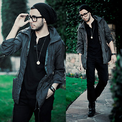 Reinaldo Irizarry - G Star Raw Necklace, H&M Leather Bracelet, H&M Shirt, Levi's® Jeans, Ralph Lauren Boots, Forever 21 Parka, Target Beanie, Tom Ford Glasses - THE TIES THAT BIND