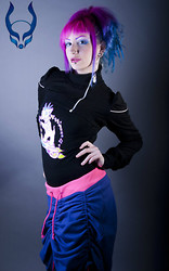 Ellen Penelo - Cyberdog Space Runner Shrug, Cyberdog My Little Pooch Kids Tee, Cyberdog Space Runner Skirt, Cyberdog Misty Blue Contact Lenses, Manic Panic Hair Dye - Space Runner