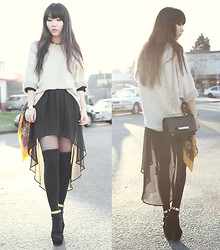 Ivy Xu - American Apparel Sweater, Valentino Bag, H&M Ankle Cuffs - Early Spring