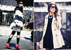 Cabinet in Ruins * - Holly Preppy Trench, Topshop Dress, Again & Shoes, Stradivarius Clutch - .Classy...