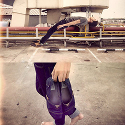 Fahmi Ramadhan - Zara Basic, Lois Jeans, Unbranded Shoes - That one minute flying