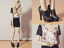 Tricia Gosingtian - Sugarfree Shoes Booties, Topshop Top, Topshop Skirt, Forever 21 Accessories - 020512