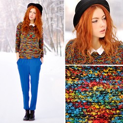 Ebba Zingmark - Sweater, Pants, Second Hand Boots, Hat And Shirt - Devoted to colors
