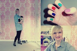 Harriet A - Barry M Nail Polish, Next Denim Dress - No one does it better.