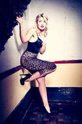 Jessie's Style Notebook .com - Topshop Leopard Pencil Skirt, Black Body, Primark Black Stiletto's - Pin Up