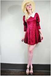 Coury Combs - Vintage Dress - Berry Velvety