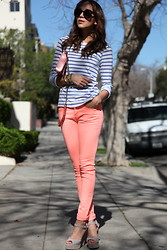 Ashley M - Asos Jeans, Steve Madden Shoes - Coral