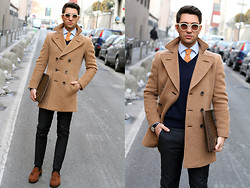 "Filippo Fiora - Vintage Coat, Belfiore Loafers, Louis Vuitton Briefcase - TIME TO ""TIE THE KNOT"""
