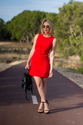Render Sublime - Dress, Alexander Wang Bag, 3.1 Phillip Lim Shoes - Bright red