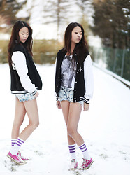 Anna Zhu - London Lil Wayne, American Apparel Tights, Damn Good Kids Jacket - One day your life will flash before your eyes.