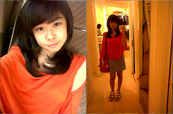 Miiniidewii Iiwediiniim - Mrsclothes Orange Squash Dress, Singapore Platform Sandals - Orange Squash