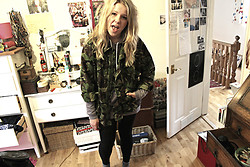 Ulrica Vilen-Letts - Reading Festival Army, American Apparel Hoody Dress - Say wot
