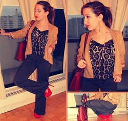 Kai G - Forever 21 Cheetah Print, Forever 21 Suede Blazer, Marc By Jacobs Pumps, Gucci Vintage Bag - You make my heart skip a beat