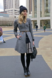 Celia Ammerman - Dkny Coat, Acne Studios Skirt, Prada Purse, Anthropologie Belt - Double Helix