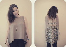 Jo (lespoirdemavie) Fashion blogger. - Fish Tail Silk Lace Top, American Apparel Disco Pants - Valentines Lace