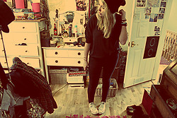Ulrica Vilen-Letts - ? Black Beenie, American Apparel Slouchy Top, Topshop Jeans, Converse All Star - All black all star