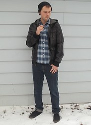 Christian LaDouceur - Forever 21 Jacket, Walmart Plaid Shirt, American Eagle Jeans, Vans Shoes - Blue Valentine