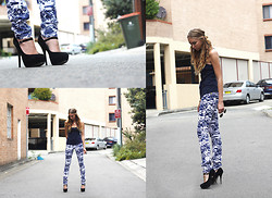 Stephanie Kramer - Bettina Liano 'Porcelain' Oj Leggings, Betts Mary Jane's - Porcelain