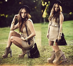 Melanie Winter - In Love With Fashion Dress, Nasty Gal Bag, Jeffrey Campbell Boots - SUMMERTIME SADNESS