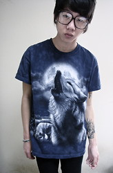 Cord Walsh - Thrifted Wolf Shirt, Urban Outfitters Readers - Lone wolf