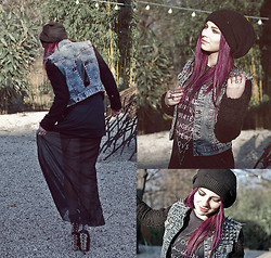 Masha Sedgwick - Diy Vest, Gina Tricot Shirt, Primark Skirt, Jeffrey Campell Boots, H&M Beanie, Gina Tricot Ring - COME AS YOU ARE