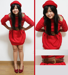 Christine Adelina Tjhia - River Island Red Dress, H&M Bowler Hat, Charles & Keith Belt - A Study in Scarlet
