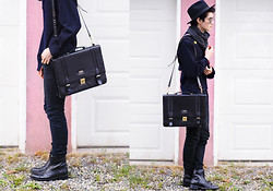 Nigel Lew - Vintage Briefcase, Custom Leather Boots - She didn't know any different