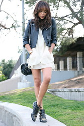 Ashley M - Chloé Boots, Alexander Wang Bag, Vintage Jacket - Most Wanted