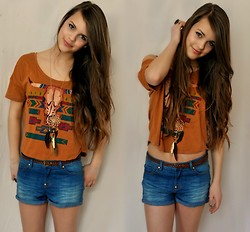 Julia R - Forever 21 Tribal Shirt - Tribal