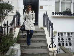 Niki B - Burberry Trench, Miu Bag, Topshop Jeans, Chanel Sunglasses - Spring in the Air
