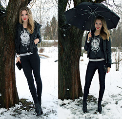 Rebecka Wiklund - Bikbok Jacket, Carlings Top - Welcome to the black parade