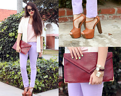Amy Lee - Asos Lilac Pants, Karen Walker Number Ones, Vintage Watches - Pastels for the spring