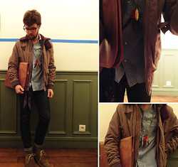 Paolostefano R - Topman Shoes, Rugby Ralph Lauren Jacket, Asos Necklace, Rrl Shirt, The Kooples Jeans - There is always a beginning