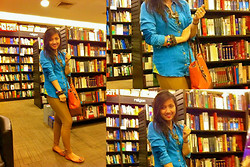 Ganna Athena G - Zara Denim Polo, Accessorize Accessories, Topshop Jeggings - Gee Goes From School To Bookstore