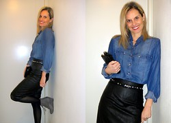 Vanda Santos - Catalogue Shirt, Bsb Skirt - Leather & denim