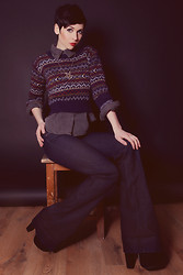 Nora Lovely - Eleanor Rose High Heels, Zara Jeans, H&M Blouse, Soho Sweater, Necklace - Time and time again
