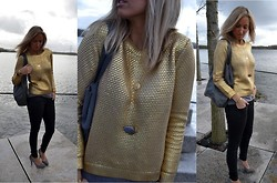 Ellis In Fashionland - H&M Knit, Supertrash Jeans, Necklace, Taft Leather Suede Pumps` - Feels like luxury to me
