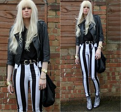 Giselle C - Asos Jacket, Topshop Boots, Motel Pants - I cant stop wearing these freaking pants!!!!!