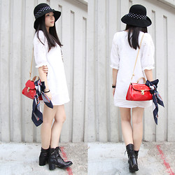 Yuki Lo - H&M Hat, Cherrykoko Dress, Cherrykoko Bag, Staccato Shoes - I love this crochet dress