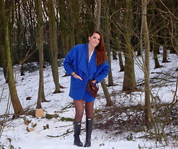 Pernille Moesgaard - Recycling Blue Jacket, Hunter Wellies, Recycling Bag - New in blue!