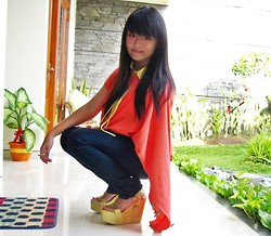 Veren Lee - Up Glitter Wedges, Only I Orange Top - Orange!