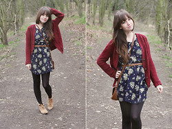 Lauren M - Love Dress, Missguided Cardigan, Topshop Boots - Dirty Boots