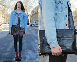 Quinn Bell - Thrifted Denim Jacket, Thrifted Dress, Jeffrey Campbell Tardy, Clutch - Something In The Way