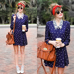 Steffy Degreff - Tea And Tulips Sweet As Pie Polka Dot Dress - A dreamer and her dream dress ♥