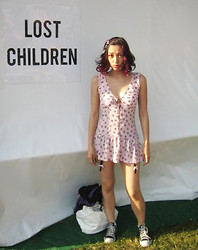 Abby @ Haute Republic [Dot] Com - Urban Outfitters Pink And Black Dress - Lost Children