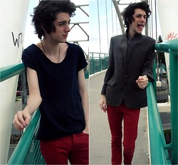 Grayson Gabriel - Topman T Shirt, Topman Jeans, Merit Blazer - Pineapples on Grape Street
